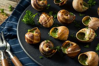 Fancy French Hot Escargot Appetizer