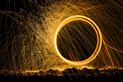 A Ring is Round (Amanda J Richards) Tags: lightpainting light night ring paintingwithlight
