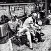 in the heat of a summer day (j.p.yef) Tags: peterfey jpyef yef people men woman bw sw monochrome sitting germany hamburg seasons summer sun women tattoos bestportraitsaoi