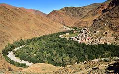 Wadi 22 (orientalizing) Tags: agriculture antiatlas desert desktop dryriver featured landscape morocco palmtrees tighemart verdant village wadi