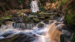 Winter flow... (Lee~Harris) Tags: landscape waterfall cascade colourful foliage longexposure lancashire rugged rock water flow light december anglezarke