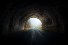 Coming Home (Geoff Sills) Tags: tunnel light end straight drive dark portal emerge fall autumn nantahala national forest mountains north carolina geoffrey william sills geoff illumeon digital illumeondigital nikon d700 1424mm 28g wide angle vignette through blue ridge parkway