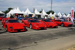 Ferrari F40, Ferrari F50, Ferrari Enzo & Ferrari 288 GTO - Circuit du Val de Vienne juin 2012 (FerrariBOOK) Tags: circuit du val de vienne vigeant 86150 ferrari f50 f40 enzo gto 288 f 40 40th anniversary 50 50th