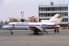 RA-87821 Yakovlev Yak-40 Aeroflot (pslg05896) Tags: kuf uwww kurumoch samara ra87821 yakovlev yak40 aeroflot
