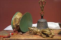 Instruments rituels du bouddhisme tantrique (musée d'ethnographie de Genève, Suisse)