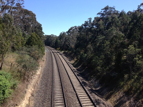 Train tracks from Old Scout Camp Road Bridge