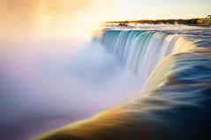 Sunrise over Horseshoe Falls (Lee Chu) Tags: project365 sonynex6 batis25 niagarafalls ontario canada goldenhour waterfall horseshoefalls longexposure sunrise