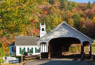 Covered bridge, Stark, New Hampshire