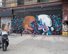 Anna Wintour and Karl Lagerfeld Mural (2012) by Bradley Theodore, Lower East Side, Manhattan, New York City (jag9889) Tags: 2017 20170617 face fashion graffiti les lowereastside lowermanhattan manhattan mural ny nyc newyork newyorkcity outdoor painting people photograph portrait streetart tagging text usa unitedstates unitedstatesofamerica woman jag9889