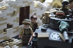 american advance (~J2J~) Tags: lego ww2 military tank soldier american minifigsrus netted helmet world war two urban building hellcat usa window
