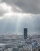 Light in Zürich: the dark tower (1/3) (jaeschol) Tags: europa kantonzürich kontinent kreis5 schweiz stadtzürich suisse swissprimetower switzerland