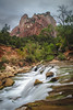 Virgin River, Zion Canyon (T.M.Peto) Tags: virginriver zioncanyon zionnationalpark utah nationalpark park nps nature naturephotography adventure mountain mountains mountainpeak mountainside mountainrange rock rocks rocklayers rockstrata erosion weatheringanderosion geology river stream flowingwater waterfall falls watercourse cliff cliffs canyon gorge valley trees tree landscape landscapephotography landscapes scenic scenery sceneryphotography outdoor outdoors outdoorphotography nikonoutdoors nikon nikond3300 nikonphotography adobelightroom lightroom land outside god'screation wanderlust travel travelphotography cloudy tripodshot slowshutter longexposure