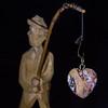 Le pêcheur - The angler (Paul Leb) Tags: macromondays stonerhymingzone pêcheur angler pescador coeur heart corazón pierre stone piedra