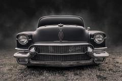 Black Cadillac (DL_) Tags: vintage black cadillac caddy hotrod streetrod automotive transportation olympusomdem5mkii