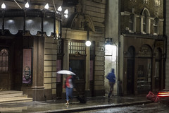 . (Le Cercle Rouge) Tags: london londres england angleterre unitedkingdom royaumeuni street darkness light night rain humans shadows silhouettes leicester