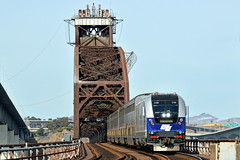 Amtrak 733 (caltrain927) Tags: union pacific railroad amtrak california cdtx department transportation siemens sc44 sc 44 charger passenger commuter train martinez beniciamartinez ca bridge