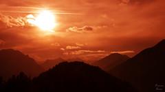 Red Mountains (PhotonenBlende) Tags: ammergau alps alpen mountains berge tirol austria silhouette sun sonne sky himmel red rot dawn dämmerung fineart kunst landscape landschaft mountainscape nikon d7200 outdoor abstract abstrakt wald berg sonnenuntergang forest