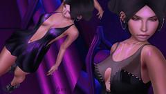 Projection (Ary McAuley) Tags: sl second life fashion blog outfit blue pink black dark gold avale nerido chain amd prtty pumec michan navzar lab isuka imitation catwa maitreya cosmopolitan remnant gacha garden applique ultra