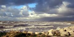 High tide at Earnse Bay (billnbenj) Tags: barrow cumbria walneyisland earnsebay hightide waves surf spray galeforcewind 55mphwind