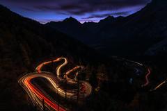 130 Seconds (Daniel.Peter) Tags: schweiz switzerland bluehour cartrail dpe3x lights night