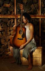 Brave Troubador (errant.light) Tags: portrait guitar beautiful woman