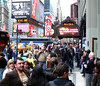 Rescue me (LynxDaemon) Tags: time square people crowd publicity us united state hard rock yahoo taxi