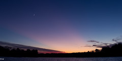 Heart Pond (MikeWeinhold) Tags: heartpond sunset dusk sky lake pink panorama chelmsford massachusetts newengland 70200mm