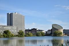 Sankt Jorgens Lake (L. Charnes) Tags: copenhagen denmark københavnv planetarium building lake reflection