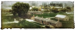 """the old and new Toronto......explored (Beaches Marley.....iPad art) Tags: toronto historical """"old york fort"""