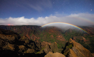 Moonbow Over Waimea Canyon