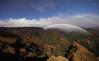 Moonbow Over Waimea Canyon (geekyrocketguy) Tags: waimea canyon kauai hawaii moon moonbow rainbow rain night stars sigma 14 14mm f18 art