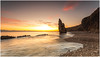 Seaham Sunrise (Steven Peachey) Tags: seascape sunrise sea sky sun clouds morning light exposure tide beach hightide ef1740mmf4l 5dmarkiv canon5dmarkiv canon lee09gnd leefilters formatthitech graduatedndfilter stevenpeachey lightroom northeastcoast northeastengland coast seaham chemicalbeach stack countydurham durhamheritagecoast