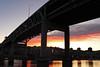 Portland´s River Sunset (elianek) Tags: bridge sunset portland oregon pordosol urban cidade urbano eua usa estadosunidos river rio