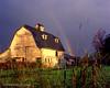 Rainbow Barn (Gary L. Quay) Tags: barn rainbow hasselblad 500cm fuji npc morning sunlight powell valley oregon farm gary quay golden fall autumn 2000
