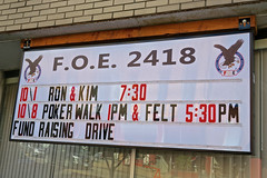 F.O.E. 2418, Millersburg, OH (Robby Virus) Tags: millersburg ohio oh foe fraternal order eagles 2418 lodge aerie sign signage organization club
