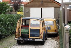 1968 Morris Minor 1000 Traveller & 1970 Autobianchi 500 Giardiniera (rvandermaar) Tags: 1968 morris mini minor 1000 traveller fiat 1970 autobianchi 500 giardiniera fiat500 autobianchi500 morrisminor morrisminiminor sidecode3 11gk54 de9302 sidecode1 import rvdm