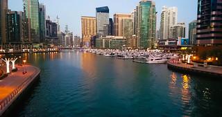 Dubai Marina, night view