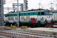 656.289 stabled at Bologna Cle, Italy 06-09-17 (Tin Wis Vin) Tags: locos railways fs italy bologna e656 656289