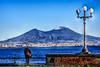O' Vesuvio - a muntagna bella... (Angelo Petrozza) Tags: vesuvio montagna campania vulcano neve snow vulcan cielo sky lamp lampione pentaxk70 angelopetrozza hdr mare sea gulf golfo