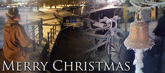 Merry Christmas to all. (timgoodacre) Tags: winter water boating boat narrowboat ice snow barge