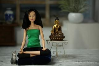 lee in meditation
