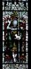 Church Eaton, Staffordshire, St. Editha, north aisle, east window, top, antecedents, detail (groenling) Tags: churcheaton staffordshire staffs england britain greatbritain gb uk steditha window glass stainedglass northaisle kempe saint john baptist staff cross lamb
