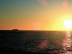 Morning Arrival (bimbler2009) Tags: olympustg4 sunrise sea ocean water movement boat ship sky sun light