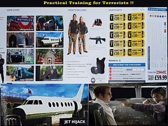 Practical Training for Terrorists !! (Kombizz) Tags: 133004 kombizz london 2017 mobilephonetaking mobilephonecapture practicaltrainingforterrorists terroristtraining jethijack spacewars ipg paintball semiautomaticmachinegun internationalpaintballgroup brochure gamezones hostagesituation