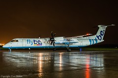 flybe G-JECZ HAJ at Night (U. Heinze) Tags: airlines aircraft airways flugzeug planespotting plane nikon night haj hannoverlangenhagenairporthaj eddv