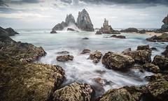 Camel Rock (laurie.g.w) Tags: camelrock lakewallaga bermagui rocky rocks water ocean waves morning sky cloud seascape waterscape