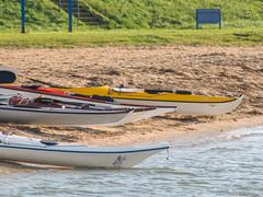 Kayaks (✦ Erdinc Ulas Photography ✦) Tags: lenstagger kayak kano water meer lake sea yellow red green groen rood geel peddel paddle hoorn netherlands dutch holland nederland gras blue minolta sand zand strand beach