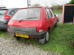 One Owner 1990 Peugeot 205 GLD For Sale @ £995 #2 (occama) Tags: h905efp red peugeot 205 gld old car cornwall uk rutland 905