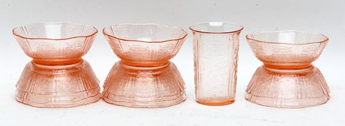 "American Sweetheart 3.75"" Berry Bowls ($308.00) and American Sweetheart Pink Tumblers ($212.80)"