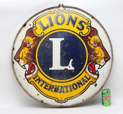 Lions Club Porcelain Sign ($156.80)